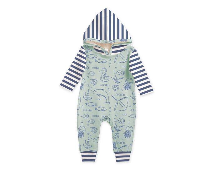 Newborn Baby Hoodie Bodysuit, Newborn Boy Coming Home, Newborn Girl Coming Home, Baby Hoodie Romper Tesababe RP81HUSBI0000