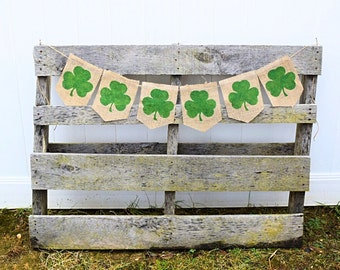 St Patricks Day, Shamrock Banner, St. Patrick's Day Decor, St Pattys Day, Saint Patricks Day, Irish Decor, Shamrock Decorations
