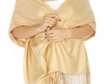 Beige Pashmina Scarf - Beige Bridesmaid's gifts - Beige Bridesmaid scarf - Beige bridal - Beige party favors - Beige shawl