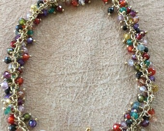 Multi colored CZ bracelet