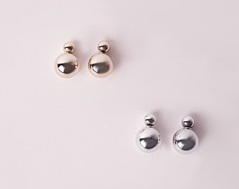 Double Metallic Ball Earrings - Customized Colors