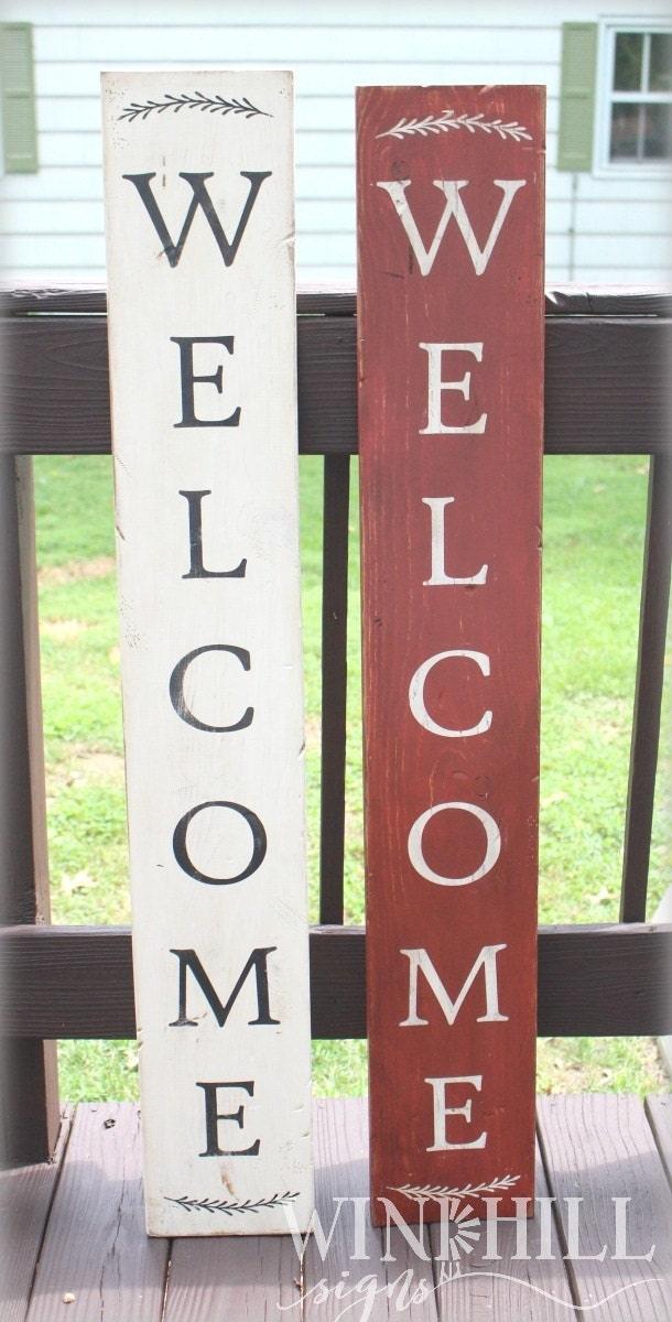 Welcome Sign Front Door Vertical Welcome Sign Front Door