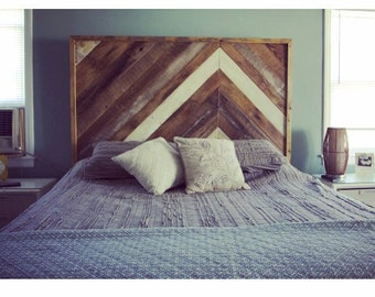 Herringbone Reclaimed Wood Headboard / Queen Headboard / Custom Wood  Headboard / Handmade / King Headboard