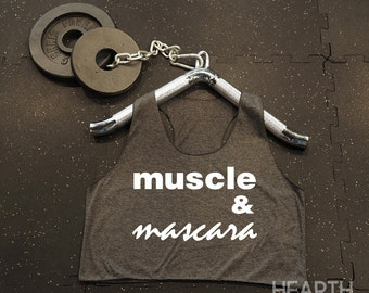 Muscle & Mascara Shirt Crop Top Racerback Tank Top Racer Back Tank