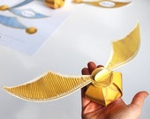 Golden snitch gift box printable, Harry potter party gift box + decor, Harry Potter party favor box, Harry potter golden snitch treat bag