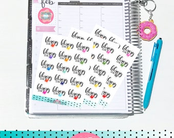 Library Day - School Days Brights | Sheet of 15 | Stickers for Erin Condren Vertical Hourly Life Planner - Happy Planner - Parents