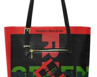 Sandra Burchette Signature RBG Handbag Side Zipper