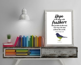 INSTANT download! Hope is the Thing with Feathers