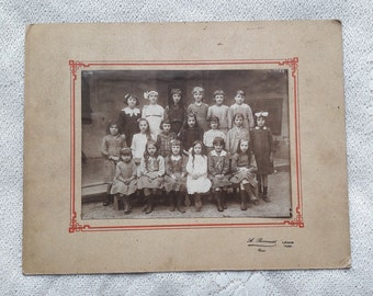 Antique French Group Photography Schoolgirls