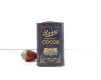 Vintage Cocoa Tin / Bunte White House Cocoa Tin / Advertising Tin