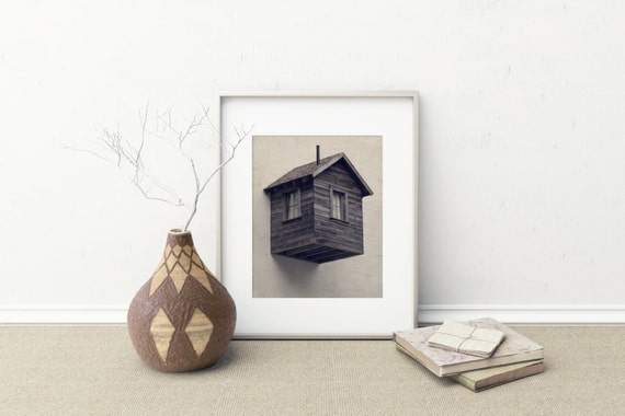 ROOM FOR RENT | Surreal art print | modern rustic home decor | architecture photography | street photography | san francisco | brown decor