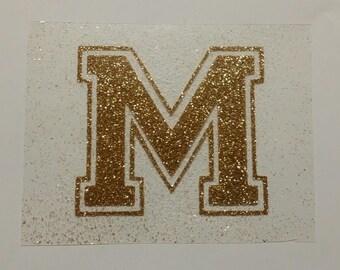 Glitter Iron-On Varsity Letters