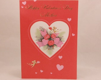 """NEW! Vintage """"Mother"""" Valentine's Day by Hi-Lites by Majestic Greeting Card. Single Card and Envelope"""