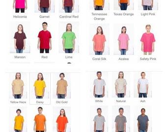 Custom shirts custom women and kids shirts muliple colors make your own shirt design your own shirt custom order