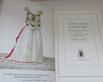 Vintage English Costume Book - From the 2nd Century BC to 1952 - Great Fashion/Theatre/Design Resource