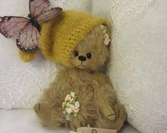 Bear Sky - artist teddy bear, teddy bear OOAK, artist bear, mohair bear