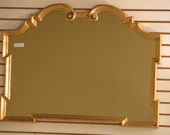 41821E: LABARGE Italian Made Gold Framed Decorator Horizontal Mirror