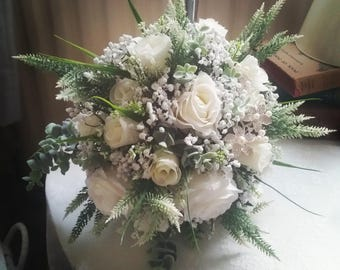 Artificial wedding flowers, Brides bouquet