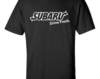 SUBARU  Drive Fresh Graphic Tee  100% Screen Printed  ***Free Shipping***