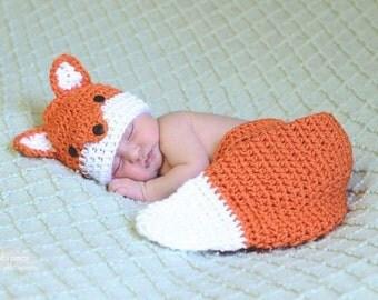 Fox diaper cover set