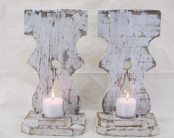 Wood Candle Holder, Ready To Ship, Farmhouse Decor, Rustic Country, Wood Wall Decor, Votive Candle Holder, Vintage Candle Holder, Sconce