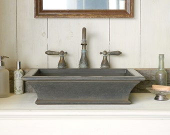 Vessel Sink - Classical Concrete Sink with Cast Iron-Style Finish
