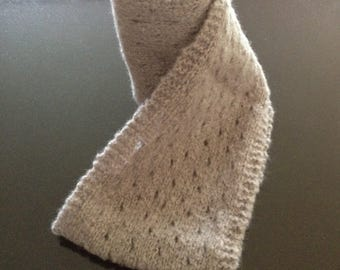 GetWoolly handknitted soft white infinity scarf