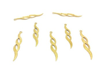 20 charms wavy Stardust gold 52mm