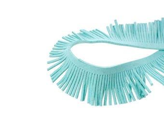 2 m braid bangs in suede sky blue