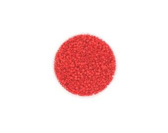 5 grams of beads Miyuki Delica 11/0 red Opaque Matt