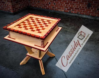 "Bloodwood & Maple ""King Arthur"" Chess Table"
