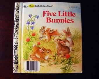 Five Little Bunnies - Vintage Children's A First Little Golden Book – 10161-2