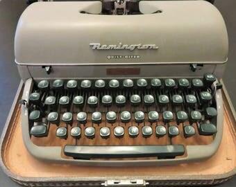 Remington Quiet Riter Typewriter, Miracle Tab, Vintage Manual Remington, 1950's Typewriter, Mid Century Remington In Case