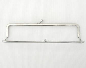 "20 cm ( 7 3/4"") purse frame in chrome silver"