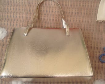Vintage 1960's Gold Coloured Evening Bag