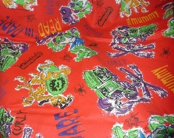 1997 Parachute Press Goosebumps 2 Yards Cotton Fabric