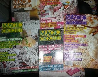 Vintage Magic Crochet 1988 Magazines