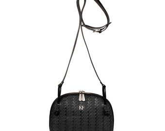 Leather Cross body Bag, Black Leather Shoulder Bag, Women's Leather Crossbody Bag, Leather bag KF-722