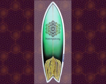 Surfboard ∞ Life Form • Green • 5′10″