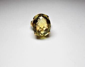 Statement Ring 925 / 750GG PL Lemon Citrine