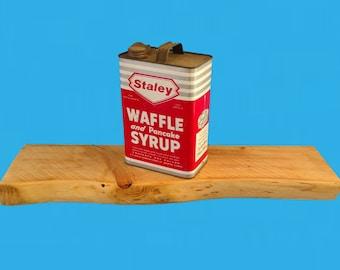 "live edge slab floating shelf,27-3/4"" long , with steel rod mounting brackets-522"