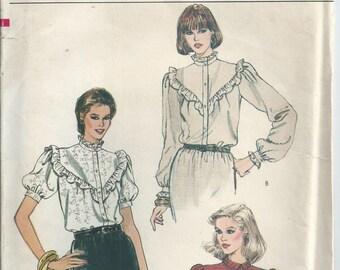 Blouse With V Yoke - Vogue Pattern 8145 - 1980s