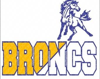 Broncos SVG, DXF, EPS Digital Cut File for Cameo and Cricut, Bronco Svg, Football Svg, Basketball Svg, Basketball Svg, Instant Download