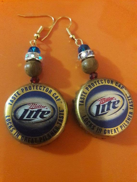 Miller Light Upcycled Earrings