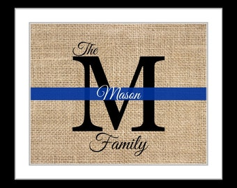Police officer gift, police academy graduation gifts, law enforcement gift, christmas gift ideas, police officers, thin blue line, monogram