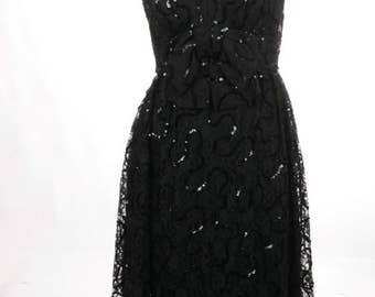 FREE US SHIPPING Vintage Maxi Lace Evening Dress