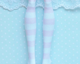 Monster doll clothes Handmade Baby pink striped stockings fits EAH\MH