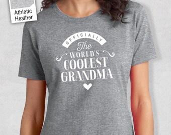 Cool Grandma, Grandma Gift, Grandma T-shirt, World's Coolest Grandma Shirt, Birthday Gift For Grandma, Awesome Grandma T-shirt!