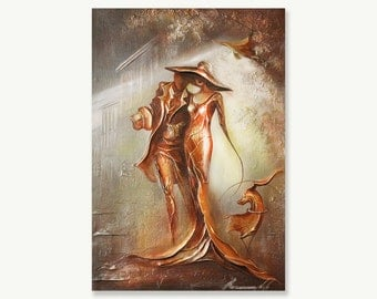 Painting Textured Gold oil on canvas fine art painting Modern 3d painting Gold leaf original wall art hand painted impasto oil painting