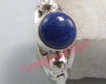 Lapis Lazuli Ring, Silver Ring, Stone Ring ,Silver overlay Lapis Ring, Gemstone ring, Size 5, 6, 7, 8,9, 10, 11, 12 ring-0314140380